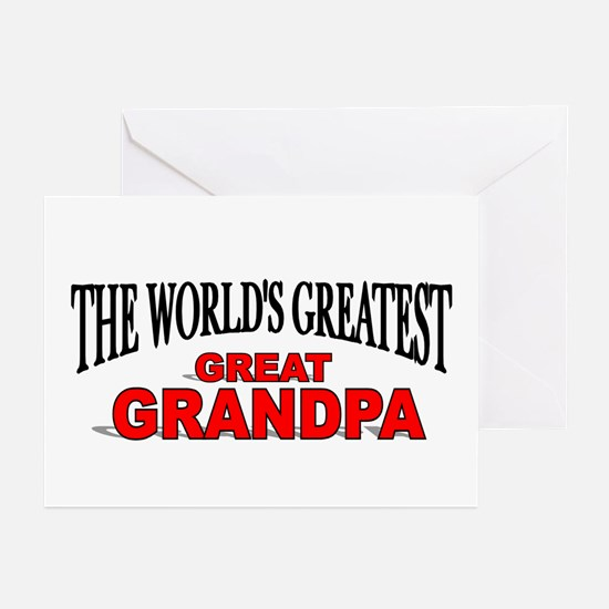 """""""The World's Greatest Great Grandpa"""" Greeting Card"""