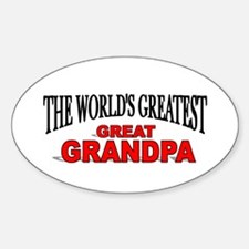 """""""The World's Greatest Great Grandpa"""" Decal"""