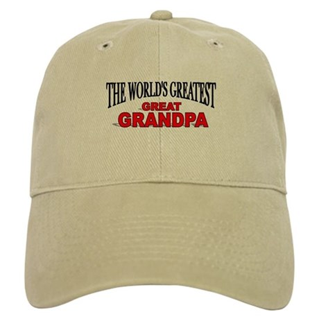 """The World's Greatest Great Grandpa"" Cap"
