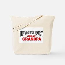 """The World's Greatest Great Grandpa"" Tote Bag"