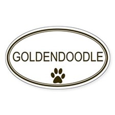 Oval Goldendoodle Oval Decal