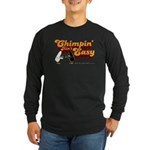 Chimpin' Ain't Easy Long Sleeve Dark T-Shirt