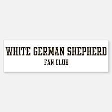White German Shepherd Fan Clu Bumper Bumper Bumper Sticker