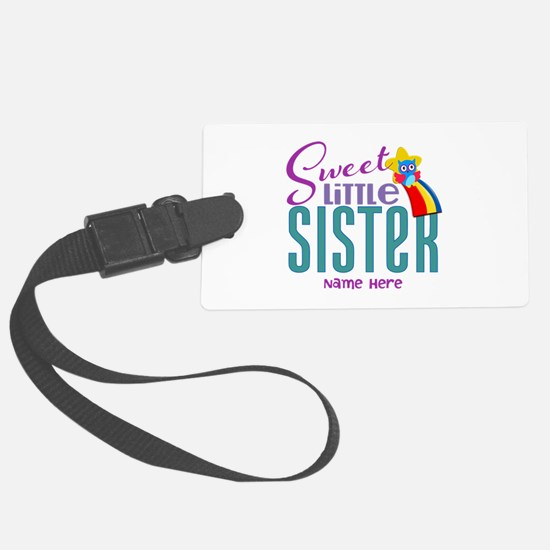 Personalized Name Sweet Little Sister Luggage Tag