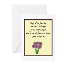 Desperation Flowers Greeting Cards (Pk of 10)
