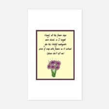 Desperation Flowers Rectangle Decal