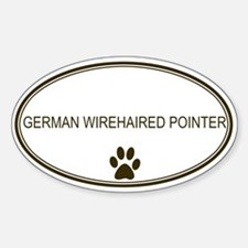 Oval German Wirehaired Pointe Oval Decal