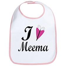 I Heart Meema Bib