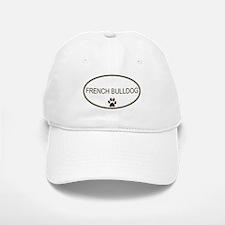 Oval French Bulldog Baseball Baseball Cap