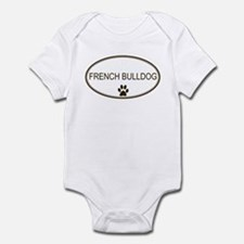 Oval French Bulldog Infant Bodysuit