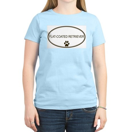 Oval Flat-Coated Retriever Women's Pink T-Shirt