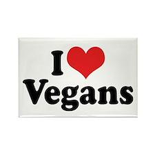 I Love Vegans 2 Rectangle Magnet (10 pack)