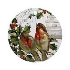 Vintage French Christmas birds and birdcage Orname
