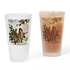 Vintage French Christmas birds and birdcage Drinki