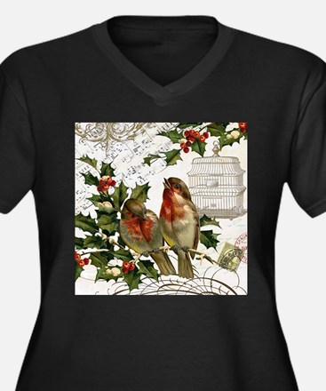 Vintage French Christmas birds and birdcage Plus S