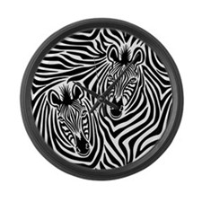 Zebra Couple Large Wall Clock