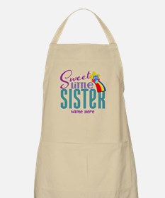 Personalized Name Sweet Little Sister Apron