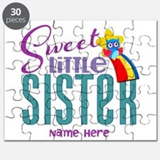 Personalized Name Sweet Little Sister Puzzle