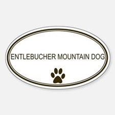 Oval Entlebucher Mountain Dog Oval Decal