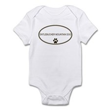 Oval Entlebucher Mountain Dog Infant Bodysuit