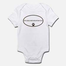 Oval Entlebucher Mountain Dog Infant Bodysuit