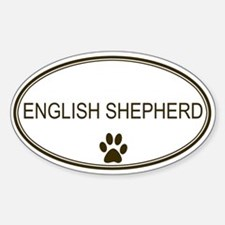 Oval English Shepherd Oval Decal