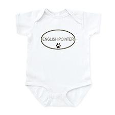 Oval English Pointer Infant Bodysuit