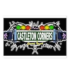 Castleton Corners Staten Island NYC (Black) Postca