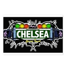 Chelsea Staten Island NYC (Black) Postcards (Packa