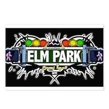 Elm Park Staten Island NYC (Black) Postcards (Pack