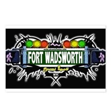 Fort Wadsworth (Black) Postcards (Package of 8)