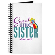 Personalized Name Sweet Little Sister Journal