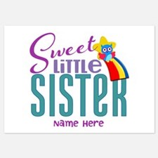 Personalized Name Sweet Little Sister Invitations