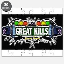 Great Kills Staten Island NYC (Black) Puzzle