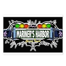 Mariners Harbor Staten Island NYC (Black) Postcard