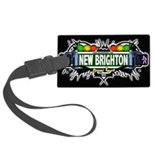 New Brighton Staten Island NYC (Black) Luggage Tag