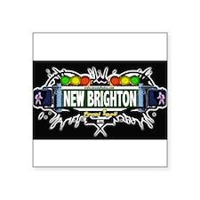 New Brighton Staten Island NYC (Black) Square Stic