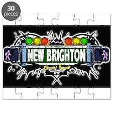 New Brighton Staten Island NYC (Black) Puzzle