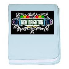 New Brighton Staten Island NYC (Black) baby blanke