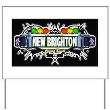 New Brighton Staten Island NYC (Black) Yard Sign