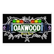 Oakwood Staten Island NYC (Black) Postcards (Packa