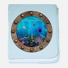 Underwater Love Porthole baby blanket