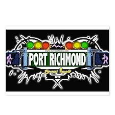Port Richmond Staten Island NYC (Black) Postcards