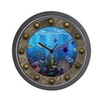 Underwater Love Porthole Wall Clock