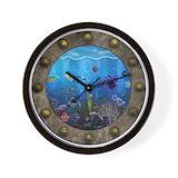 Coral reef Wall Clocks