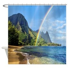 Beach Rainbow Shower Curtain