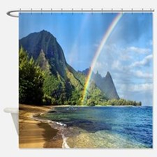 Beach Rainbow Shower Curtain