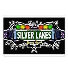 Silver Lakes Staten Island NYC (Black) Postcards (
