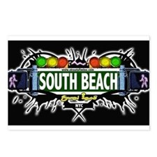 South Beach Staten Island NYC (Black) Postcards (P