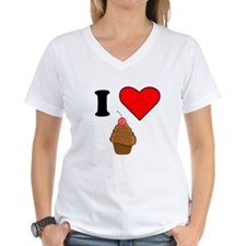 I Heart Chocolate Cupcake With Cherry T-Shirt